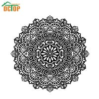 Indian Mandala Pattern Wall Decals For Living Room Removable Vinyl Art Sticker Flower Home Decor