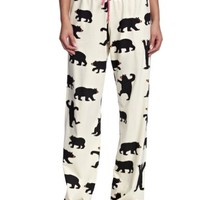 "Hatley ""Black Bear"" Women's Cotton Jersey PJ Pants"