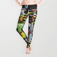 WOVEN digital, HAND DRAWN Leggings by ACKelly