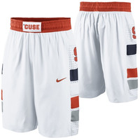 Syracuse Orange Nike Replica On-Court Basketball Shorts – White