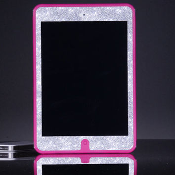 iPad Mini Otterbox Case - Custom Pink/Silver Glitter Otterbox Defender iPad Mini Retina Case - Cute Sparkly Bling iPad Mini Case