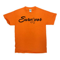 Multiple Sclerosis Shirt Awareness T Shirt MS TShirt Support Gifts Cancer Awareness Orange Ribbon Charity Survivor Mens Ladies Tee - SA757