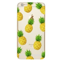 Lots of Pineapples over clear Phone Case For iPhone 7 7Plus 6 6s Plus 5 5s SE