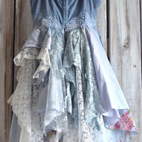 Bohemian beach blue sundress romantic shabby boho dresses, Romantic dresses, Spring summer wedding dresses, slip dress, True rebel clothing