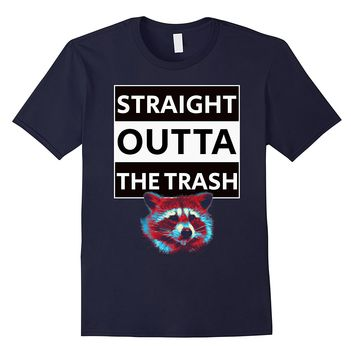Straight Outta The Trash - Funny Raccoon t shirt animal tee