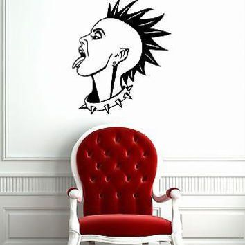 Wall Stickers Vinyl Decal Girl Punk Rock Music Subculture Unique Gift ig1518