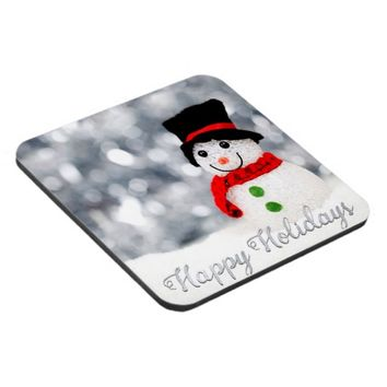 Holiday Snowman Beverage Coaster