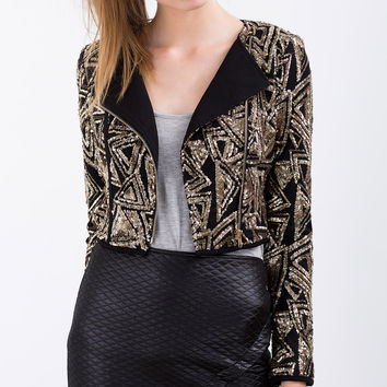 Stella Printed Sequin Jacket
