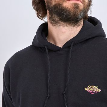 The Idle Man Going Nowhere Club Diamond Embroidery Overhead Hoodie Black