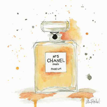 Chanel Parfum - Print from original watercolor and pen fashion illustration by Lexi Rajkowski
