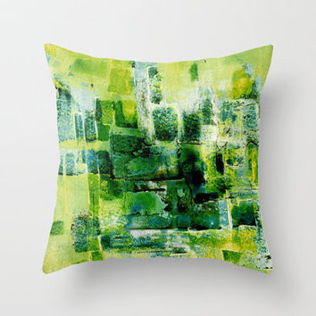 fields Throw Pillow by agnes Trachet | Society6