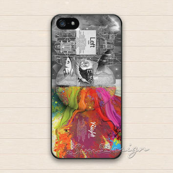 Brain iPhone 5 5s Case,iPhone 4 4s Case,iPhone 5C Case,Samsung Galaxy S3 S4 S5 Case,Left Brain Right Brain Art Hard Rubber Cover Skin Case