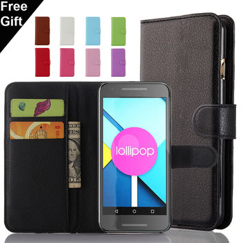 For LG G3 G2 LG G5 G4 LG Leon K8 K10 Spirit Nexus 5X Nexus 5 Case Lichee Pattern Wallet Flip PU Leather Cover Card Holder Bags