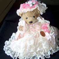 Bearly People Plush Teddy Bear Belle of the Ball VB550 1980s