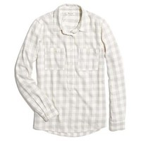 Flannel Popover in Silver Buffalo - boyshirts - shopmadewell's SHIRTS & TOPS - J.Crew