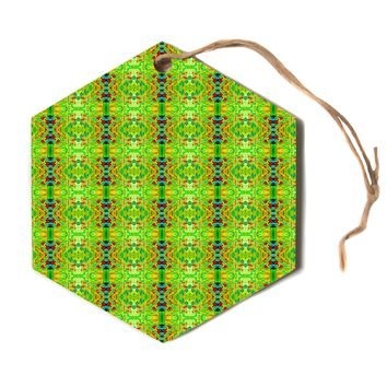 "Bruce Stanfield ""Rage Against The Machine"" Green Pattern Hexagon Holiday Ornament"