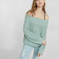 Open Knit Off The Shoulder Sweater