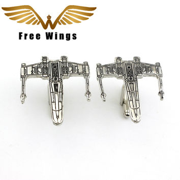 Movie Jewelry Star Trek Vintage Warship Cufflinks For Mens High Quality