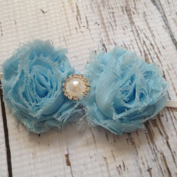 Baby Girl Headband...Shabby Bow Heaband...Toddler Girl Headband...
