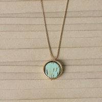 Sadie Wood Pendant Necklace