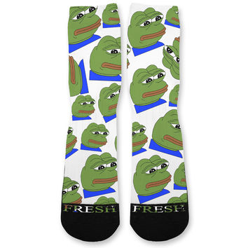 Pepe The Frog Meme Custom Athletic Fresh Socks