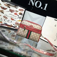 GUCCI Woman Fashion Leather Shoulder Bag Crossbody