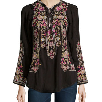 Fabio Embroidered Blouse,