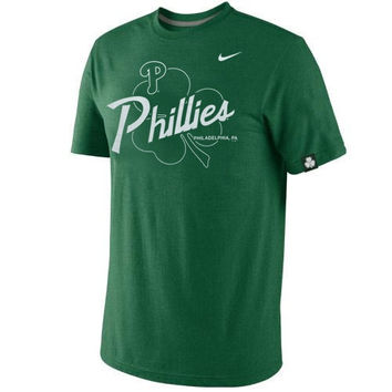 Nike Philadelphia Phillies St. Patrick's Day Tri-Blend T-Shirt - Green