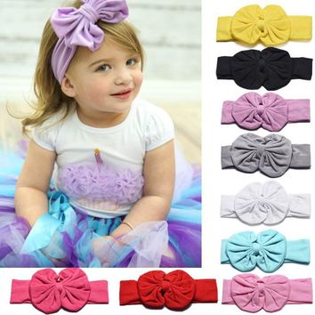 JECKSION Diademas 1PC Cute Kids Girls Bowknot Headband Hair Band Headwear for girl hair accessories Hair Band 9 Colors