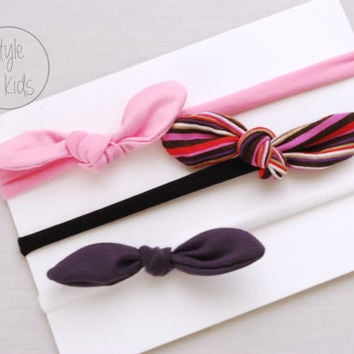 PICK your KNOT Headband Bow Headband You Choose Toddler Headband Set Headband Baby Bow Headband Knot Headband