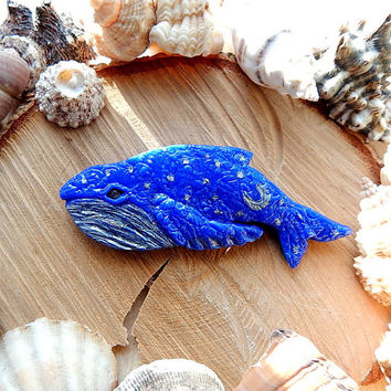 Whale brooch, whale pin, whale badge, whale jewelry, blue whale,  ocean jewelry, sea creatures, whale pendant necklace,  Happy Whale Brooch