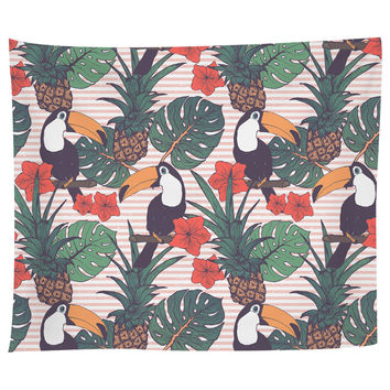 Toucans and Pineapples Tapestry