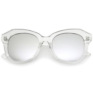 Oversize Women's Cat Eye Mirrored Lens Sunglasses A916