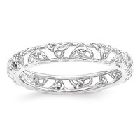 Sterling Silver Stackable Expressions Celtic Knot Eternity Ring