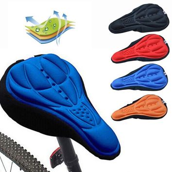 3D Soft Pad Cycling Bicycle Saddle Silicone MTB Mountain Road Bike Seat Cover Cushion Ergonomic Bicycle Saddle Front Seat Mat