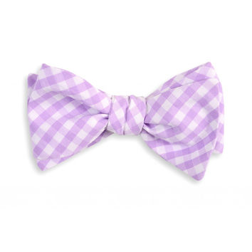 Lavender Check Bow Tie by High Cotton
