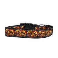 Skull Crossed Lovers Nylon Dog Collar by Mirage