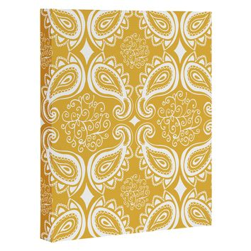 Heather Dutton Plush Paisley Goldenrod Art Canvas