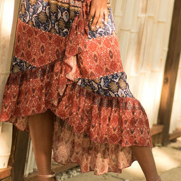 Sage The Label Red Moon Rising Skirt