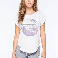 Rip Curl Road Less Traveled Womens Tee White  In Sizes