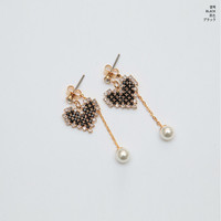 Heart Bling Drop Earring