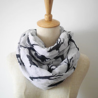 SOFT Cotton Scarf Giraffe Infinity Scarf White Loop Scarf Women New Year Fashion Accessories Valentines Day Gift Ideas For Her