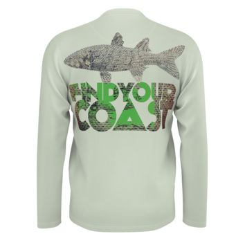 Men's Find Your Coast Big Fish Sustainable Long Sleeve Knit Shirt