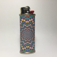 Trippy Metal Lighter Case Cover