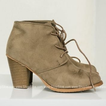 Denny Suede Booties | Tan