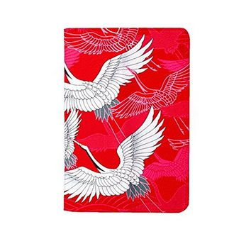 Cranes Leather Passport Holder Protector Cover_SUPERTRAMPshop