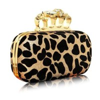 Leopard Point Skull Rings Clutch Handbag Fashion Gifts-colors Available:Amazon:Electronics