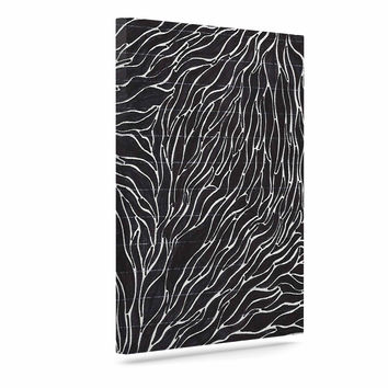 "Nl Designs ""Garden Illusion"" Black White Canvas Art"
