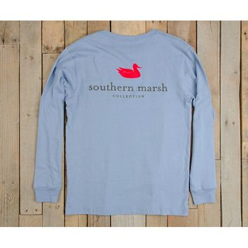 Southern Marsh Authentic Long Sleeve Tee -Light Blue