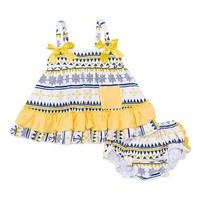 Navy & Yellow Nautical Swing Top & Bloomers - Infant